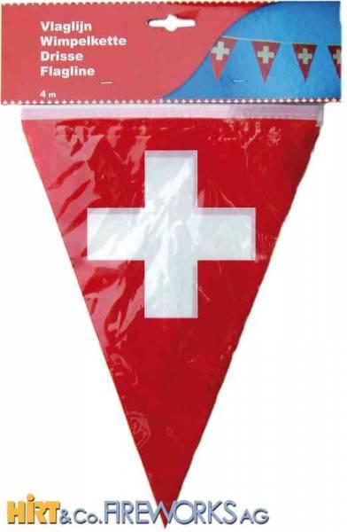Wimpelfahnenkette Schweiz - 20 Wimpel