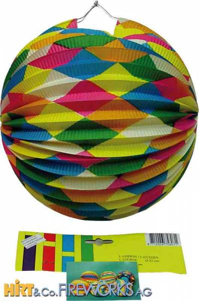 Ballonlampion - Bunt