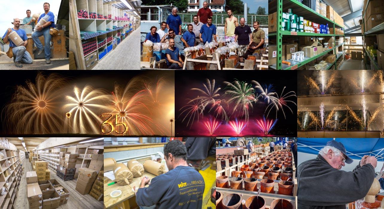 Feuerwerksverkauf Schweiz Team