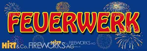 Werbebanner Feuerwerk