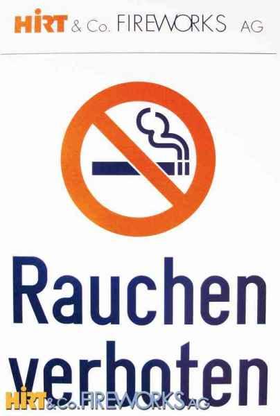 Rauchverbot - Hinweisschild
