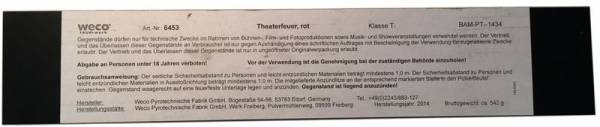 Theaterfeuer - Rot